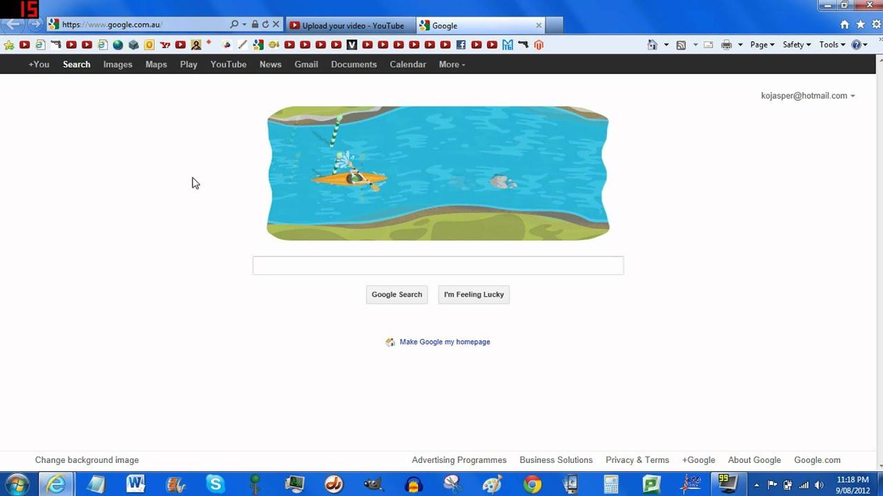 Google Doodle Olympic Games 2012 Canoeing Youtube