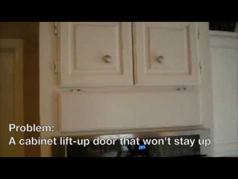 Cabinet Vertical Door Stay Diy Youtube