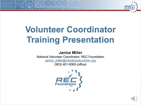 Training Presentation for Volunteer Coordinator