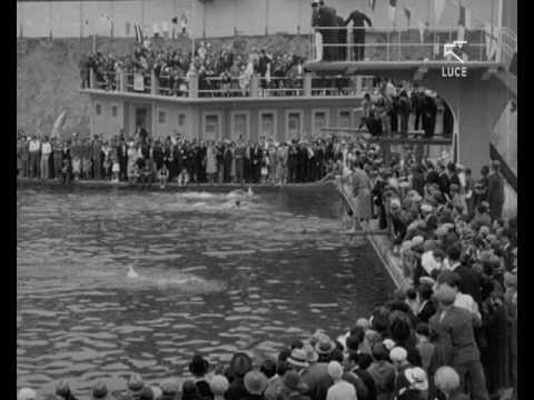 Inaugurazione della nuova piscina ad Acqui Terme (1932)