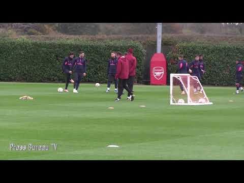 Arsenal Training pre Arsenal vs Sporting Lisbon