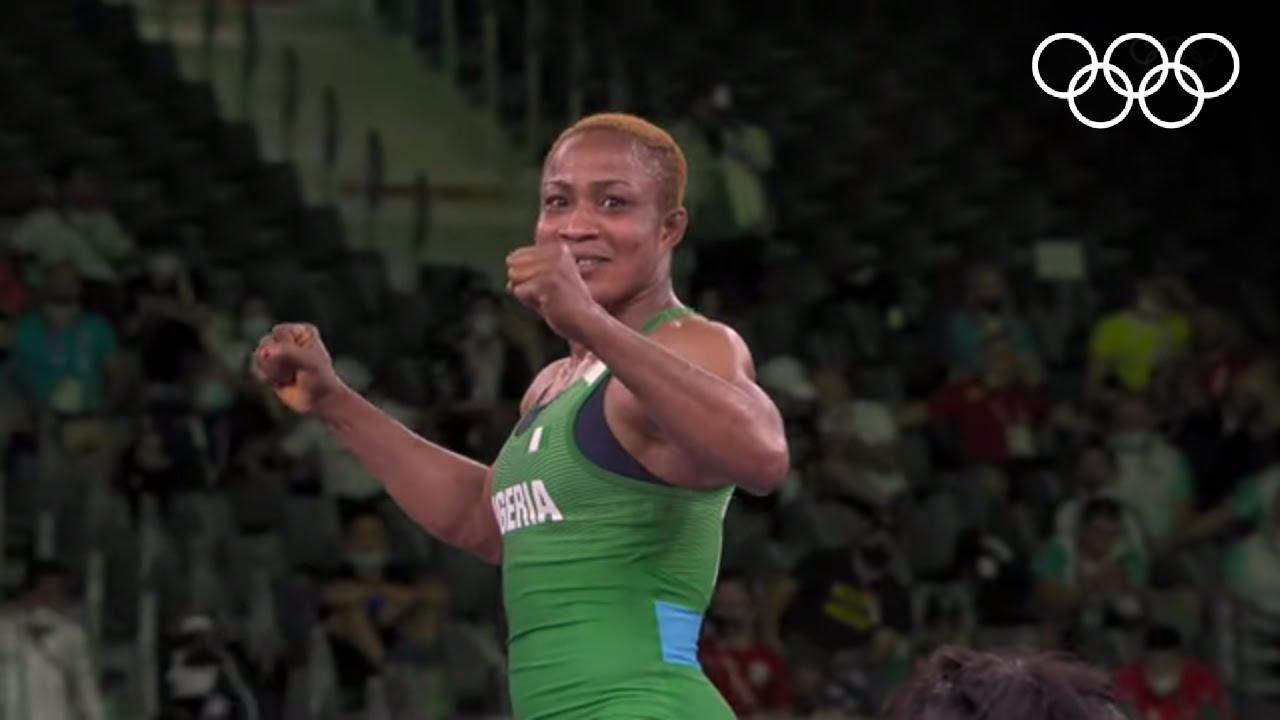 Download Nigeria's Oborududu advances to final 🤼♀️ | #Tokyo2020 Highlights