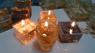 Hediyelik jel mum yapımı /  How to make Gel Candles #25