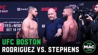 UFC Boston Ceremonial Weigh-ins: Yair Rodriguez vs. Jeremy Stephens