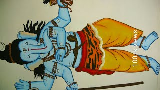 Ganesh chaturthi special drawing and painting of Ganpati in shivavtar