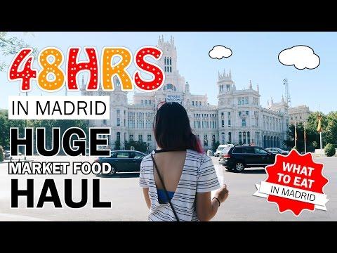 EUROPE TRAVEL VLOG #6: Madrid Part 2/2 - Foodie Heaven: Huge Market Food Haul