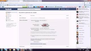 Tuto comment changer son adresse e mail de son compte facebook 2012