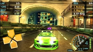 Need for Speed Underground Rivals PPSSPP Gameplay Glitchy Full HD / 60FPS