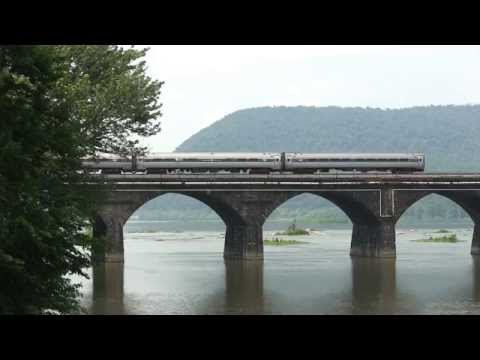Amtrak Pennsylvanian train 43 Rockville Bridge 6 14 15