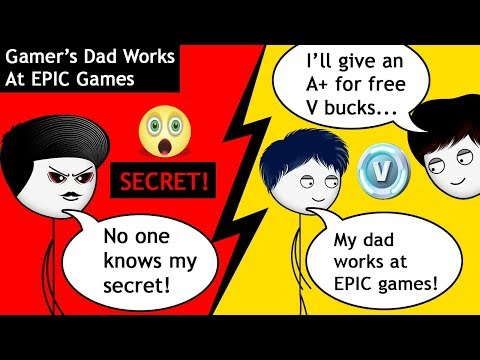 When a Gamer's Dad is secretly working at EPIC Games