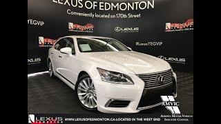 White 2013 Lexus LS 460 Prestige Package Review Edmonton Alberta - Lexus of Edmonton