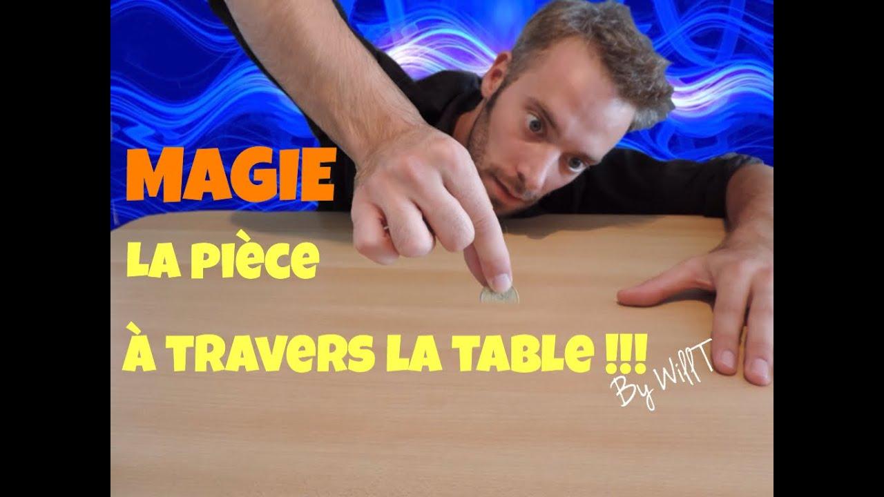 Magie la pi ce a travers la table tour de magie gratuit expliqu by will t youtube - Tour de magie table volante ...