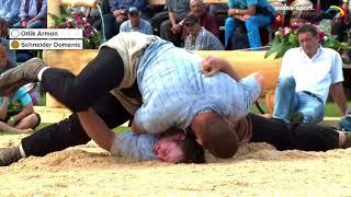 Glarner-Bündner Kantonalschwingfest 2018   Schlussgang Orlik Schneider