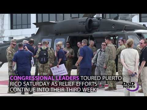 Congressional Leaders Tour Puerto Rico, DoD and HHS Increase Support