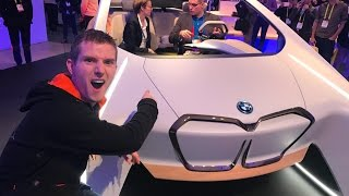 Holographic Touch Interface in a CAR? - BMW @ CES 2017