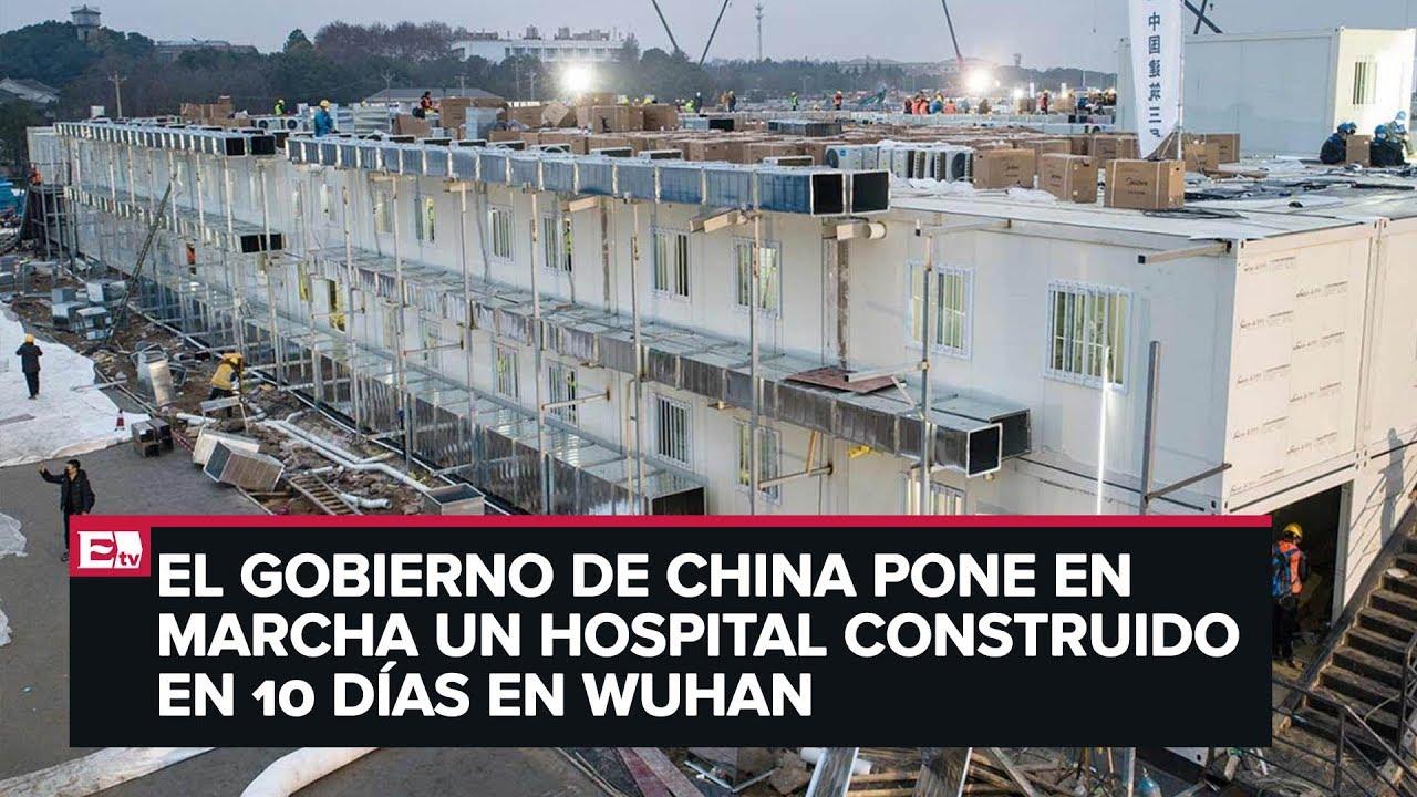 Abre China hospital exprés para coronavirus - YouTube