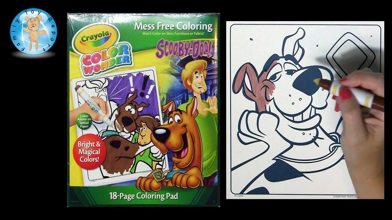 crayola color wonder scooby doo coloring book family toy report youtube - Scooby Doo Coloring Book