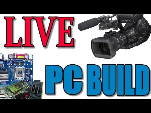 LIVE $1200 PC BUILD - i7-8700k, Z370, 32GB DDR4, Samsung 970