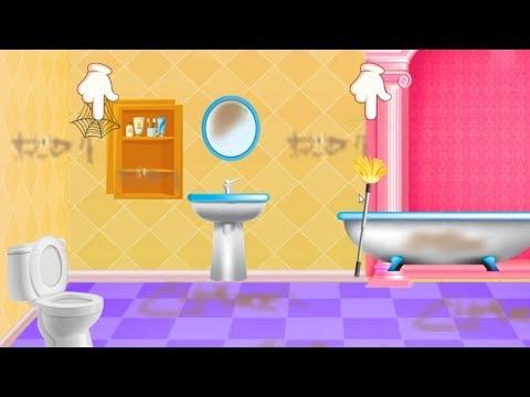 Игра Про Чистоту | Игры Для Детей и Мультики | Мир Детских Игр | Girls Home Cleaning