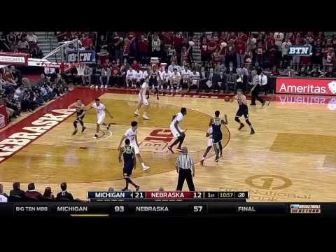 Michigan at Nebraska - Men's Basketball Highlights