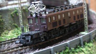 Nゲージ鉄道模型  EF57_旧型客車(普通列車)