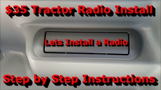 LS Tractor Radio Install - Cheap and Easy - MT342 Cab - YouTubeYouTube