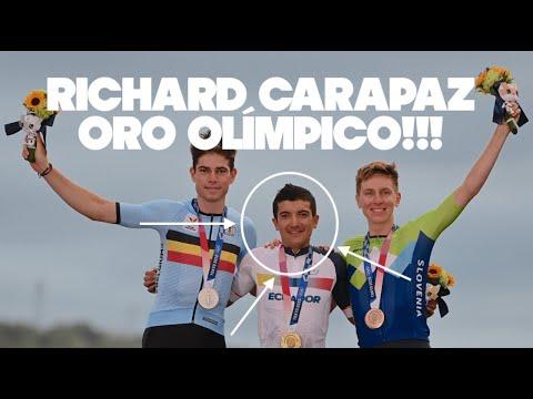 Richard Carapaz ORO OLÍMPICO ciclismo | resumen carrera Tokyo 2020