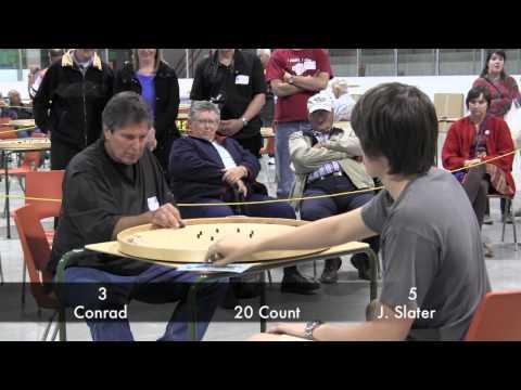 Crokinole - Conrad v Slater - 2012 World Championships