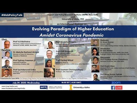 IMPRI #WebPolicyTalk on Evolving Paradigm of Higher Education amidst the Coronavirus Pandemic