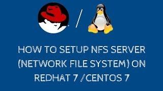 How to setup NFS server (network file system) with NFS client setup on RHEL 7 / CentOS 7 - [Hindi]