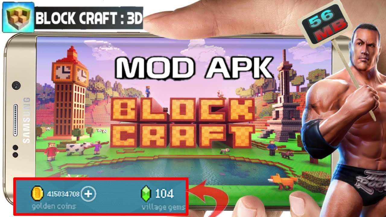 block craft 3d mod apk unlimited gems and coins download