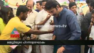 Exclusive visuals of Mammootty celebrating birthday in shooting set