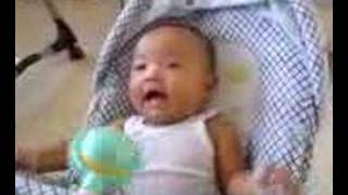 3 month old Baby First Laugh Hilarious