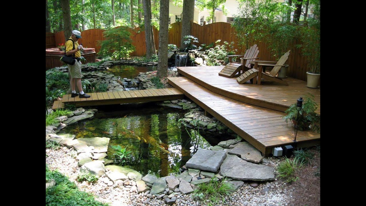 small koi fish in garden for ponds design ideas - YouTube on Koi Ponds Ideas  id=82701