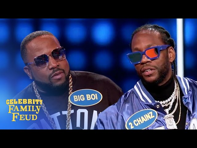 Rappers 2 Chainz and Big Boi face off! | Celebrity Family Feud