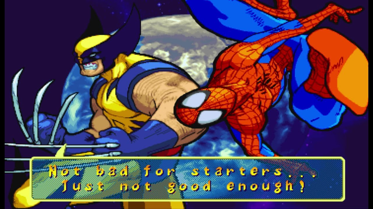 Marvel vs Capcom Clash of Super Heroes - Spider-Man/Wolverine - Expert Difficulty Playthrough