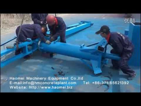 haomei concrete batch plant -Concrete distrubitor ship installation video