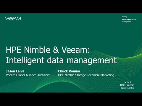 1+1 = 3 with HPE Nimble Storage and Veeam Intelligent Data Management