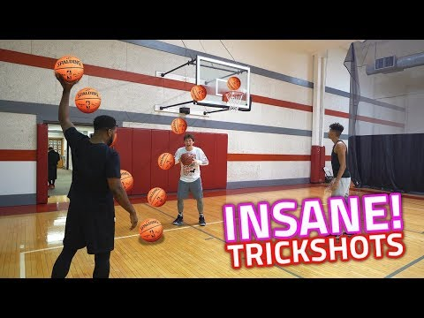 *CRAZY * TRICK SHOT BASKETBALL CHALLENGE VS LSK AND JESSER 2HYPE!
