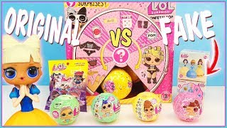 LOL Surprise Nuevas lil sisters serie 4 vs series 2 y 3 original vs fakes. LOL Princesas Disney FAKE