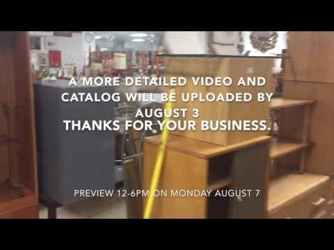 August 8, 2017 Modern Design Auction