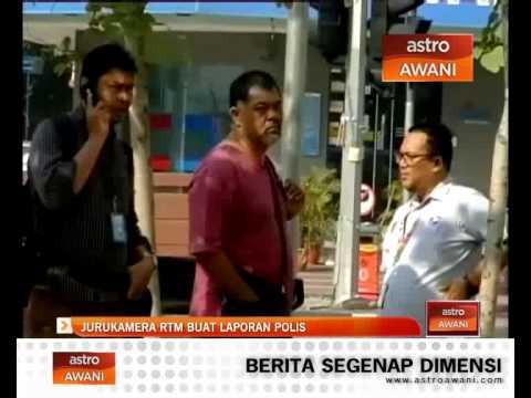 Jurukamera RTM buat laporan polis