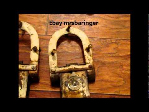 Vintage Barn Door Rollers Hinge Set Amish Horseshoe Star Youtube