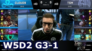 Cloud 9 vs TSM Game 1 | S7 NA LCS Spring 2017 Week 5 Day 2 | C9 vs TSM G1 W5D2 1080p