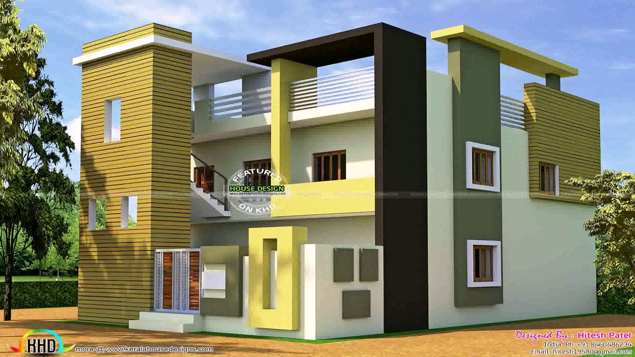 House Plans With Photos Indian Style 2400 Sq Ft - YouTube on