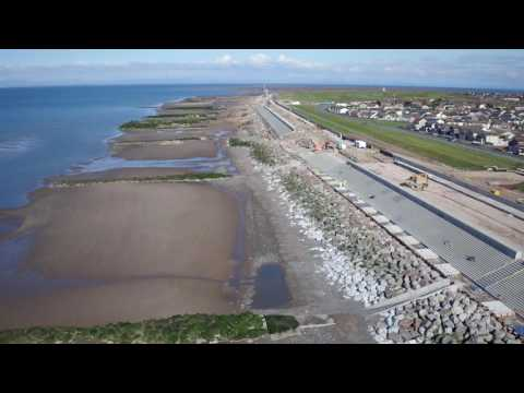 Rossall sea defences November 2016