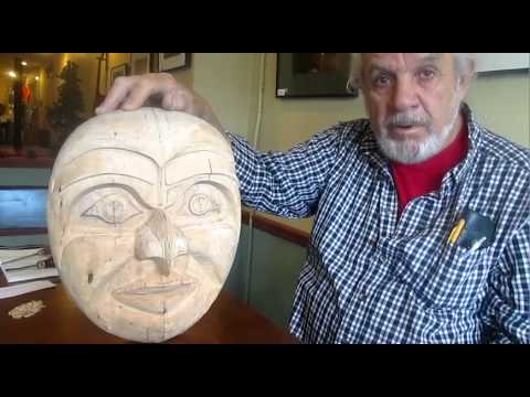 Larry Begins Carving A Pacific Northwest Native Mask