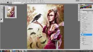 french tutorial painting photoshop