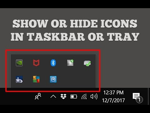 Show or Hide Icons In Taskbar or System Tray in Windows 10