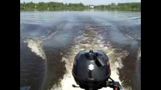 Лодочный мотор suzuki df 2.5 s.лодка FLINC 320L.(Обкатка мотора.Попутно щука 1.5 кг.окунь 250 гр. Река шексна., 2013-06-26T11:18:56.000Z)